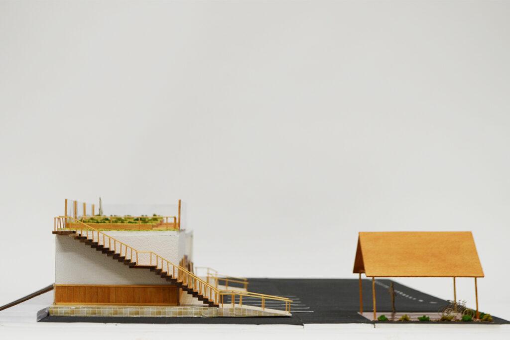 興津駅西 模型写真