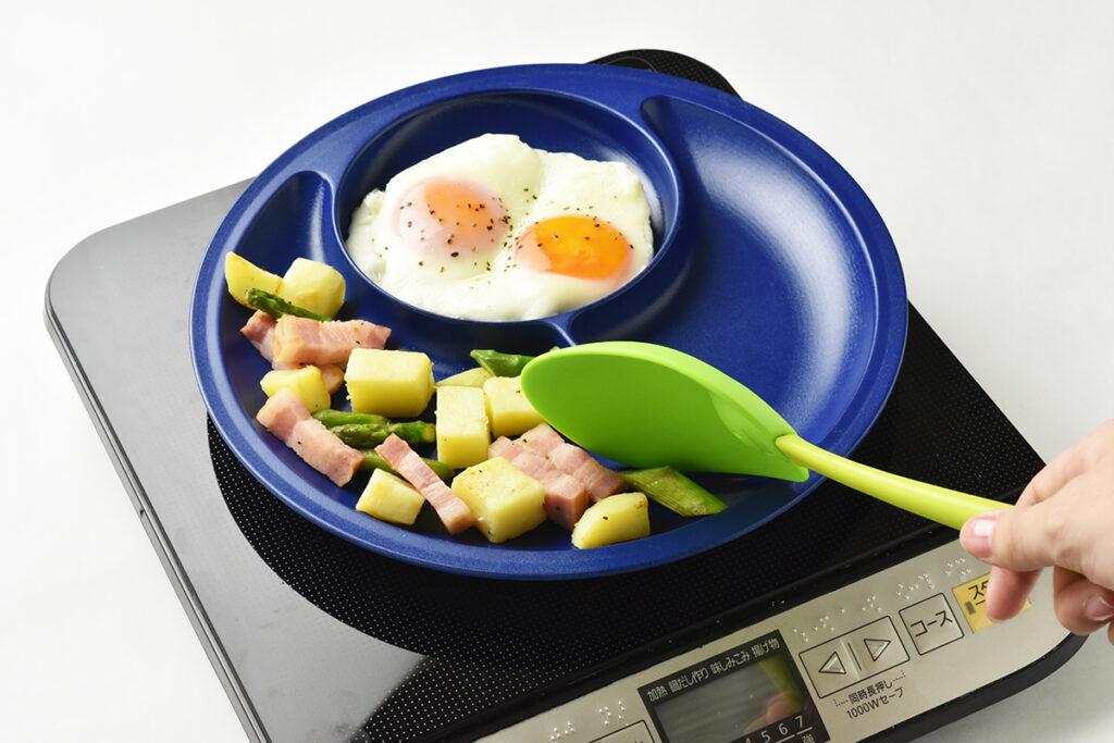 簡単な調理が可能で、IHクッキングヒーター対応。