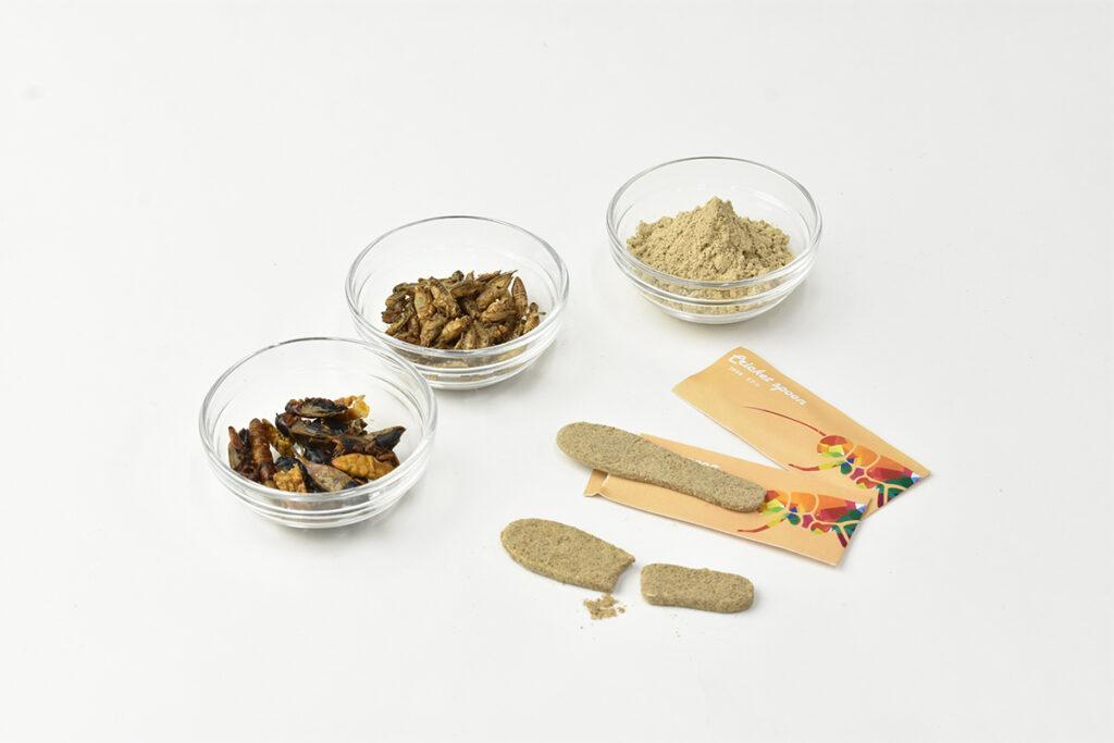ヨーロッパイエコオロギの粉末を原料に使用しています。